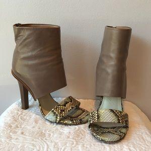 MAISON MARTIN MARGIELA Python Ankle Sandal Bootie